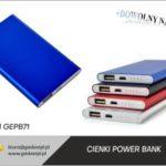cienki power bank z logo