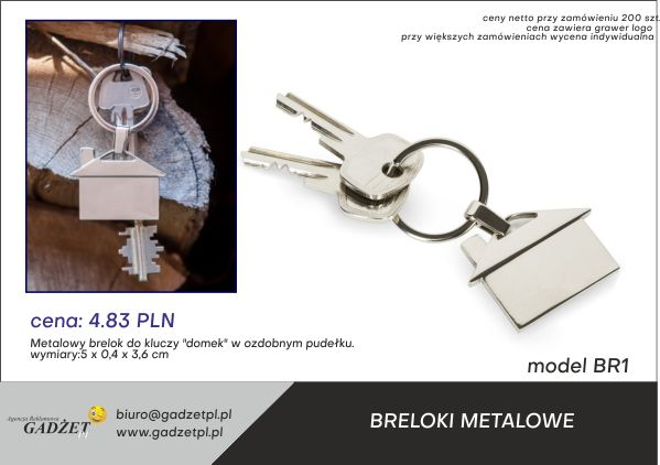 breloki metalowe