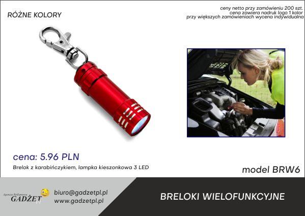 brelok reklamowy z latarką