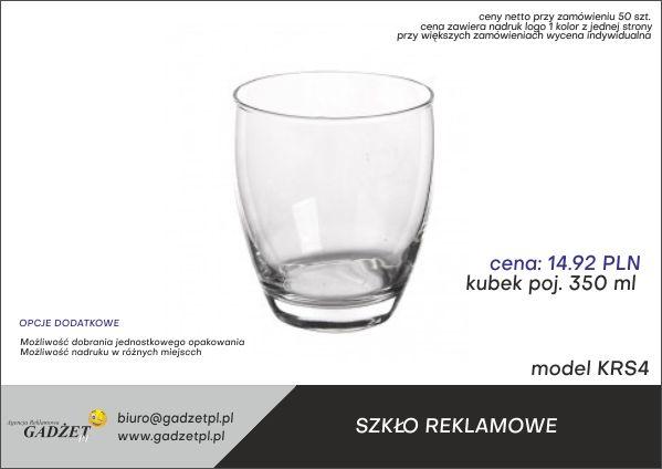 kubki szklane z logo