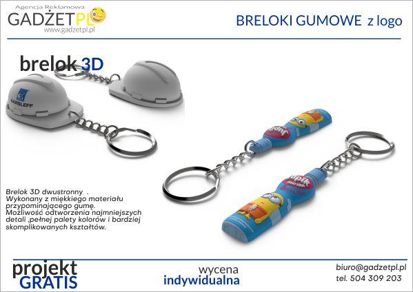 breloki reklamowe gumowe 2d