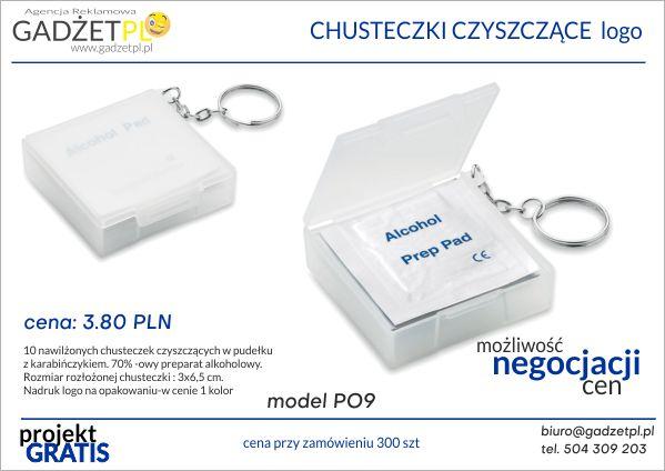 produkty ochrony osobistej z logo chusteczki czyszczące