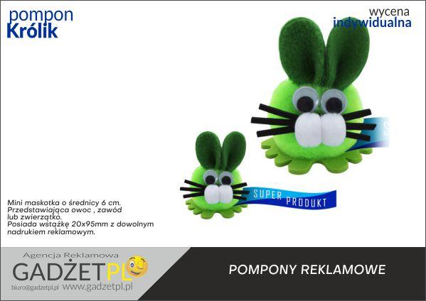 pompony reklamowe z logo królik