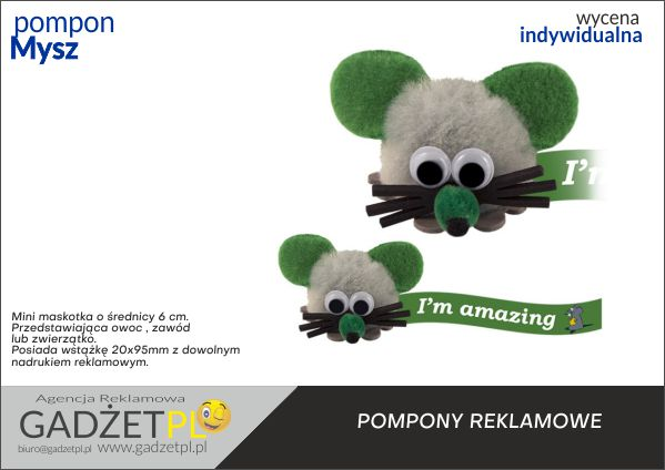 mini maskotka reklamowa mysz