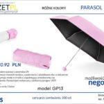 parasol z logo z ochroną UV