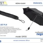 parasol kieszonkowy z logo