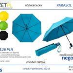 parasol składany z logo
