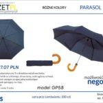 parasol składany z nadrukiem reklamowym