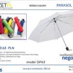 parasol kieszonkowy z nadrukiem logo