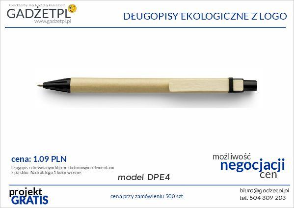 długopisy ekologiczne z logo