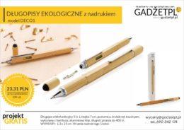 bambusowy długopis z logo wielofunkcyjny