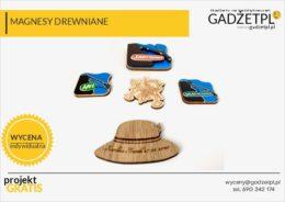 magnesy reklamowe drewniane