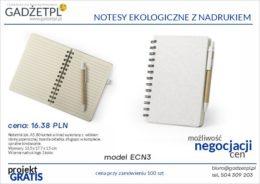 notesy ekologiczne z nadrukiem