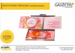 wizytówki firmowe metalizowane